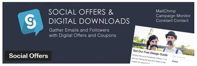 Social Offers WordPress Plugin