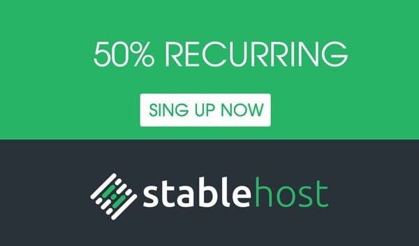 stablehost 50% coupon