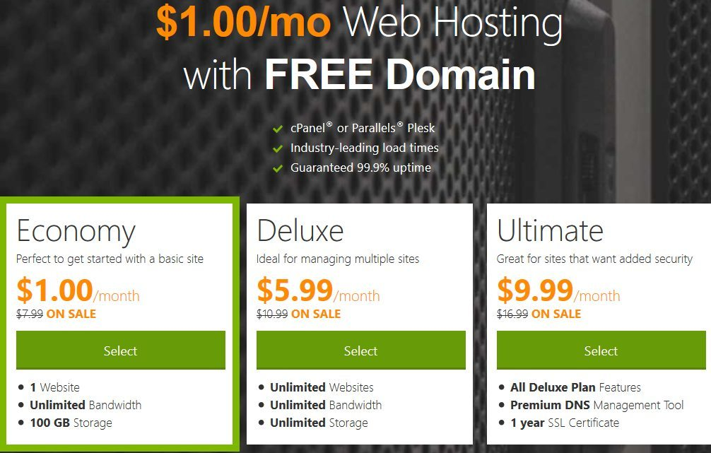 Godaddy 1 Hosting Coupon September 2018 Get 1 Free Month Free