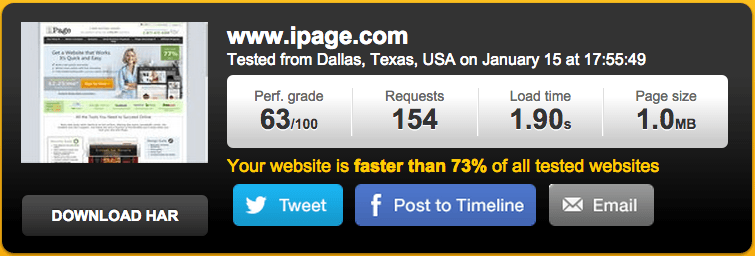 iPage Speed Test