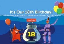 Namecheap's 18th Birthday Deal Promo - Deals Promos