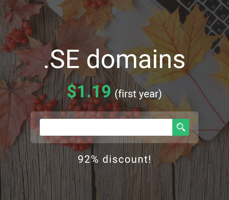 Stablehost Coupon - .SE domains