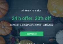 Stablehost Happy Halloween 2018 - 30% off on Web Hosting Platinum