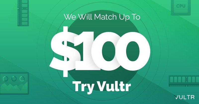 $103 FREE VULTR Coupons for August 2019