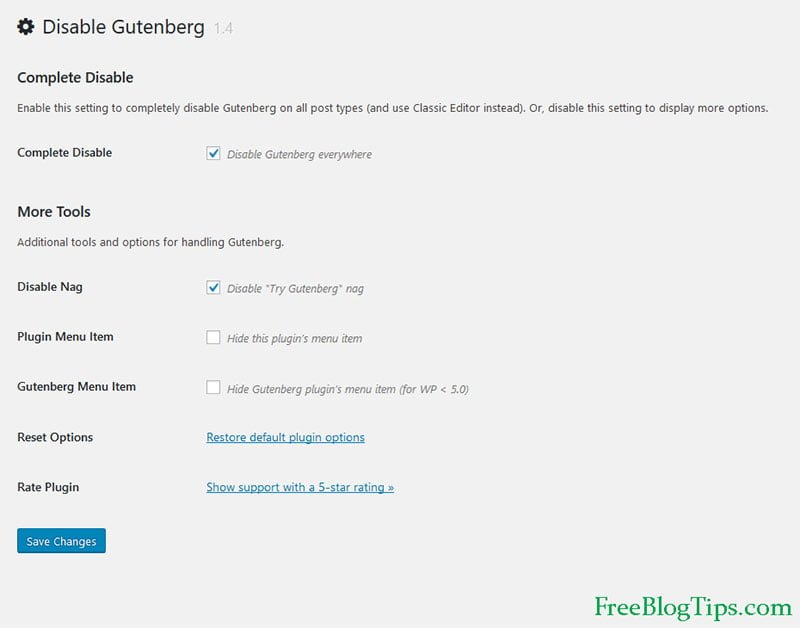 Disable Gutenberg Editor completely from WordPress 5.0