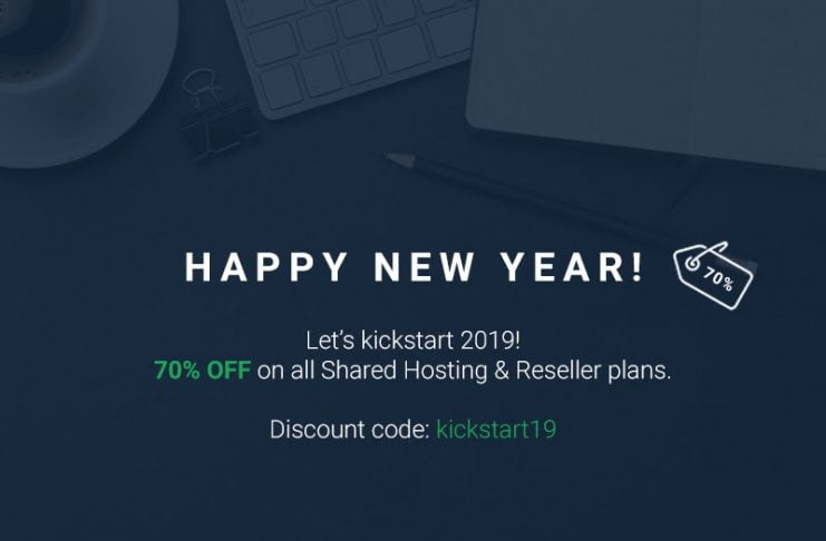 70% OFF Stablehost Happy New Year! 2019